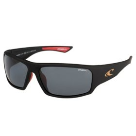 O'Neill Sultans Polarized Sunglasses,  Matte Black Frames and Solid Smoke Lens