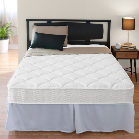 "Night Therapy iCoil 8"" Spring Mattress and SmartBase Bed Frame Set, Full"