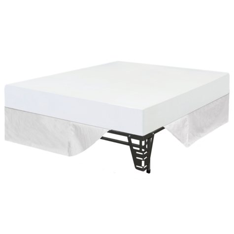 """Night Therapy 8"""" Memory Foam Mattress and Bed Frame Set - Queen - 3 pk"""