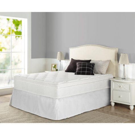 """Night Therapy iCoil 13"""" Deluxe Euro Box Top Spring Mattress- Queen"""