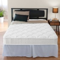 """Zinus Night Therapy iCoil 8"""" Spring Twin XL Mattress and SmartBase Bed Frame Set"""