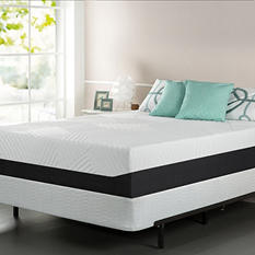 """Night Therapy 13"""" Pressure Relief Memory Foam Queen Mattress and Bifold Box Spring Set"""