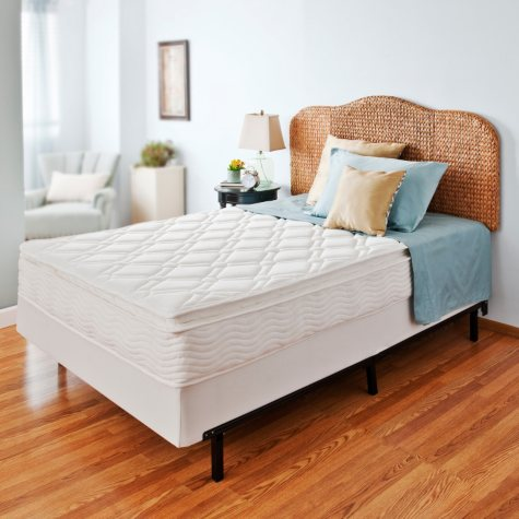 "Night Therapy iCoil 10"" Pillowtop Spring Mattress and Bi-Fold Box Spring Set, Twin"