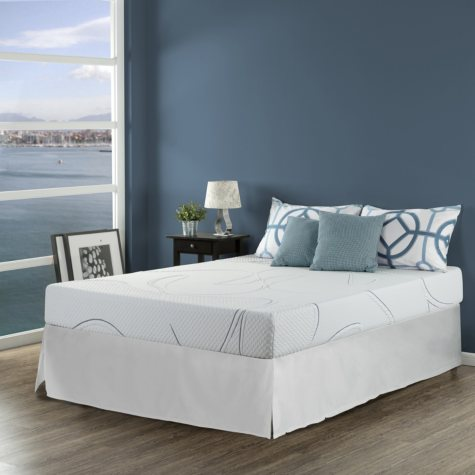 Night Therapy Gel Infused Memory Foam 8 Inch Elite Mattresses & Bed Frame Set  - Various Sizes