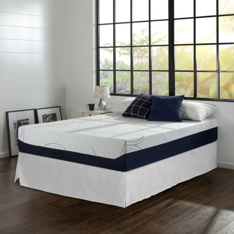 "Night Therapy Gel-Infused Memory Foam 12"" Elite King Mattress & Bed Frame Set"