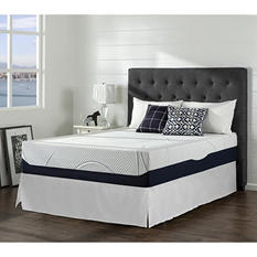 """Night Therapy Gel-Infused Memory Foam 13"""" Elite Queen Mattress & Bed Frame Set"""