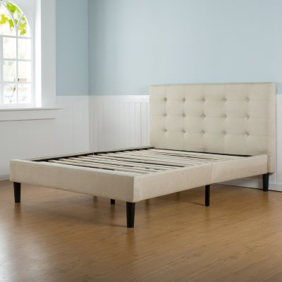 Taupe Tufted Upholstery Platform Bed Assorted Sizes Sam S Club