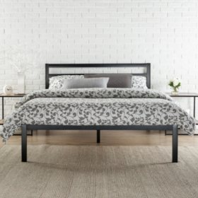 Modern Studio Platform 1500H Bed Frame with Headboard (Various Sizes)