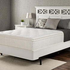 """Night Therapy Classic 12"""" Euro Box Top Spring Mattress and Bifold Box Spring Set (Various Sizes)"""