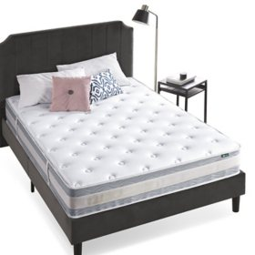 "Zinus Night Therapy Spring 10"" Fusion Gel Memory Foam Hybrid Queen Mattress"