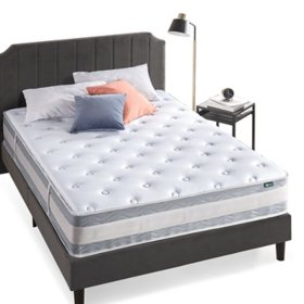 "Zinus Night Therapy Spring 12"" Gel Memory Foam Hybrid King Mattress"