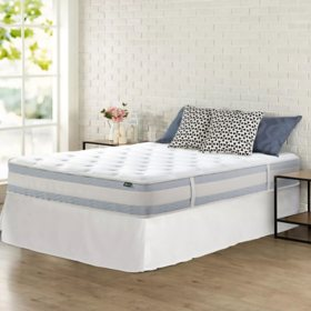 """Zinus Night Therapy 10"""" Gel Memory Foam Hybrid Twin Mattress and SmartBase Bed Frame"""