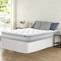 """Night Therapy Set Spring 10"""" Fusion Gel Memory Foam Hybrid Queen Mattress and SmartBase Bed Frame"""