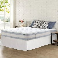 """Zinus Night Therapy 10"""" Memory Foam Hybrid King Mattress and SmartBase Bed Frame"""