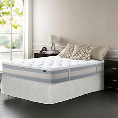 """Night Therapy Set Spring 12"""" Fusion Gel Memory Foam Hybrid Full Mattress and SmartBase Bed Frame"""
