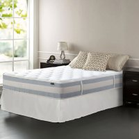"""Zinus Night Therapy 12"""" Memory Foam Hybrid Full Mattress and SmartBase Bed Frame"""
