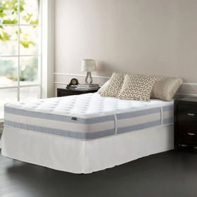 """Zinus Night Therapy Set Spring 12"""" Fusion Gel Memory Foam Hybrid Full Mattress and SmartBase Bed Frame"""