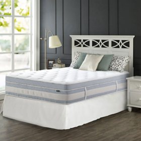 """Zinus Night Therapy Set Spring 14"""" Fusion Gel Memory Foam Hybrid Queen Mattress and SmartBase Bed Frame"""