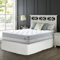 """Zinus Night Therapy 14"""" Gel Memory Foam Hybrid California King Mattress and SmartBase Bed Frame"""