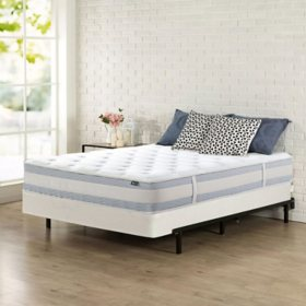 """Zinus Night Therapy 10"""" Memory Foam Hybrid Queen Mattress and BiFold Box Spring"""