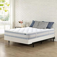 "Night Therapy Set Spring 10"" Fusion Gel Memory Foam Hybrid King Mattress and BiFold Box Spring"