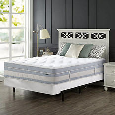 "Night Therapy Set Spring 14"" Fusion Gel Memory Foam Hybrid Queen Mattress and BiFold Box Spring"