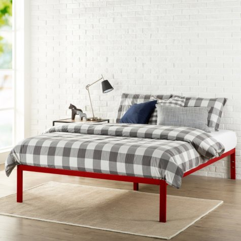 Modern Studio Platform 1500 Bed Frame, Red (Assorted Sizes)