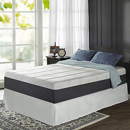 "Zinus Night Therapy 13.5"" ADAPTIVE Memory Foam King Mattress and SmartBase Bed Frame Set"