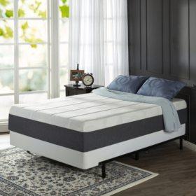 "Zinus Night Therapy 13.5"" ADAPTIVE Memory Foam Queen Mattress and BiFold Box Spring Set"