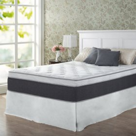 "Zinus Night Therapy 13.5"" ADAPTIVE Spring Queen Mattress and SmartBase Platform Bed Frame Set"