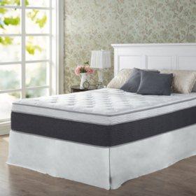 "Zinus Night Therapy 13.5"" ADAPTIVE Spring California King Mattress and SmartBase Platform Bed Frame Set"