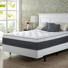"""Night Therapy Positive Sleep 13.5"""" ADAPTIVE Euro Boxtop Spring Mattress and BiFold Box Spring Set (Assorted Sizes)"""