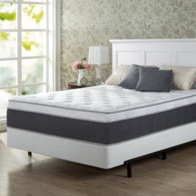"Zinus Night Therapy 13.5"" ADAPTIVE Spring Queen Mattress and BiFold Box Spring Set"