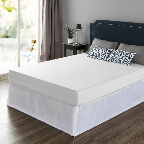 """Night Therapy 8""""  Gel-infused Green Tea Memory Foam Full Mattress and SmartBase Set"""
