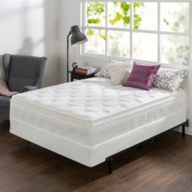 """Night Therapy 12"""" Comfort Coil Spring California King Mattress and BiFold Set"""