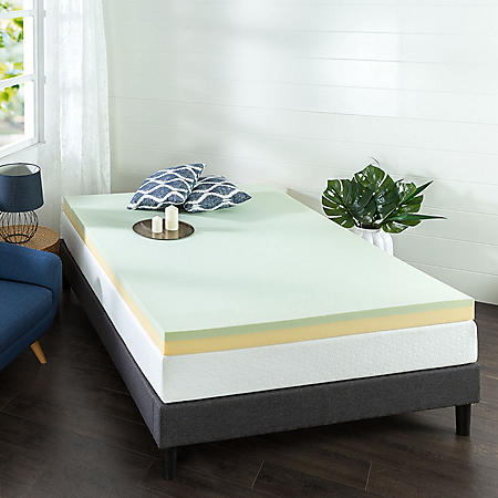 "Zinus Night Therapy 4"" Green Tea Memory Foam Mattress Topper (Assorted Sizes)"