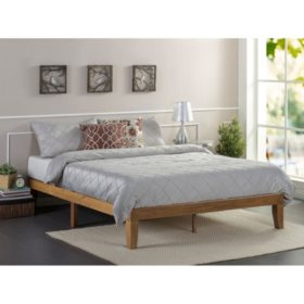 Night Therapy Rustic Oak Solid Wood Platform Bed (Assorted Sizes)