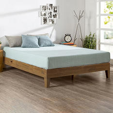 Night Therapy Rustic Oak Deluxe Solid Wood Platform Bed (Assorted Sizes)