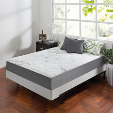 """Night Therapy Memory Foam 10"""" Cloud Queen Mattress and BiFold Box Spring Set"""