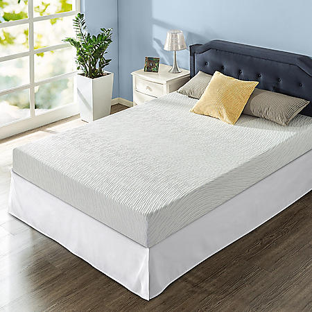 """Zinus Night Therapy Gel Infused Memory Foam 8"""" Elite Queen Mattress and SmartBase Set"""
