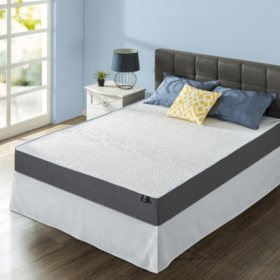 "Zinus Night Therapy Gel-Infused Memory Foam 10"" Elite Queen Mattress & Smartbase Set"