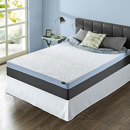 "Zinus Night Therapy Gel-Infused Memory Foam 12"" Elite Queen Mattress & SmartBase Set"