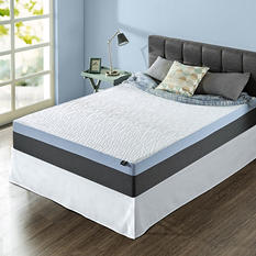 "Night Therapy Gel-Infused Memory Foam 12"" Elite King Mattress & Bed Frame Set"