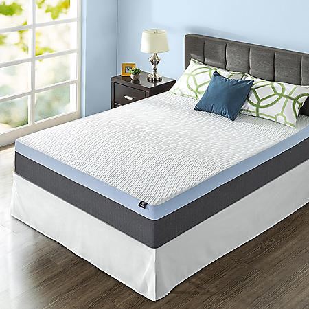 "Zinus Night Therapy Gel-Infused Memory Foam 13"" Elite Full Mattress & Bed Frame Set"