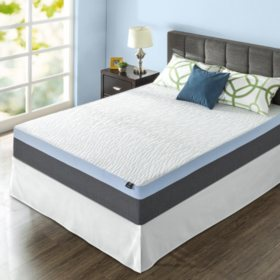 "ZInus Night Therapy Gel-Infused Memory Foam 13"" Elite Queen Mattress & Bed Frame Set"