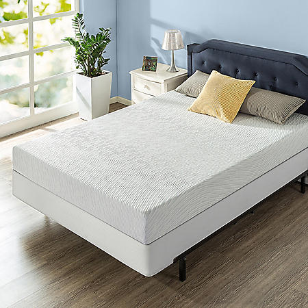 "Zinus Night Therapy Gel Infused Memory Foam 8"" Elite Full Mattress and BiFold Box Spring Set"
