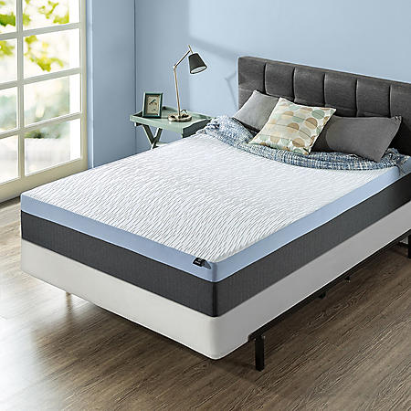 "Zinus Night Therapy Gel-Infused Memory Foam 12"" Elite Twin Mattress & BiFold Box Spring Set"