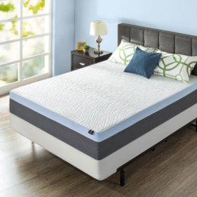 "Zinus Night Therapy Gel-Infused Memory Foam 13"" Elite King Mattress & BiFold Box Spring Set"