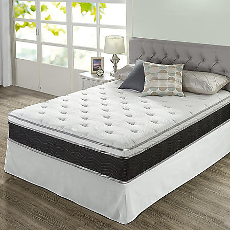 """Zinus Night Therapy 12"""" iCoil Premium  Firm King Mattress and SmartBase Set"""