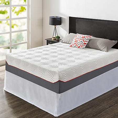 """Zinus Night Therapy 14"""" Cooling Memory Foam and iCoil Hybrid King Mattress and SmartBase Set"""
